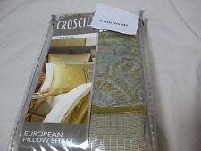 New Croscill Euro European Pillow Sham Emperor 26x26 ~ Ecru Nip