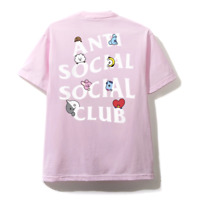 Anti Social Social Club x BT21 'Peekaboo' Cartoon Pink ASSC T-shirt