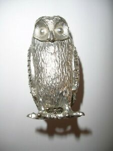 Novelty small OWL metal ornament with hidden compartment