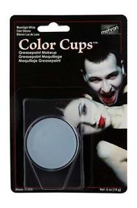 Mehron Color Cup Professional Quality Greasepaint/Carded .5oz Moonlight White