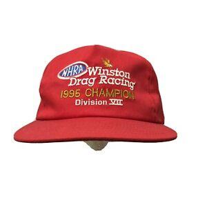 Vintage NHRA Winston Drag Racing 1997 Champion Autolite Nationals Snapback Hat