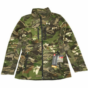 Under Armour Wool Hunting Jacket S Forest Camo Mid Season Coat Women NWT $250