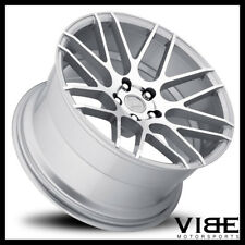 "19"" MRR GROUND FORCE GF7 SILVER CONCAVE WHEELS RIMS FITS INFINITI G37 G37S SEDAN"