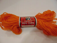 Aunt Lydia's Heavy Rug Yarn 70 yds 315 Tangerine 1 or more FREE 1st Class SH