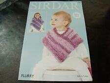 Sirdar Flurry Chunky Pattern 4768 Baby and Girl's Coats Easy Knit