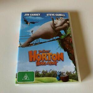 DR. SEUSS HORTON HEARS A WHO! - DVD - R4 - VGC - JIM CARREY, STEVE CARELL