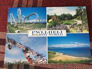 BOOMERANG ROLLER COASTER POST CARD, BUTLINS STARCOAST WORLD, PWLLHELI, WALES