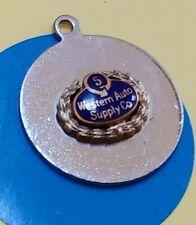 E101 Western Auto Supply Company Sterling Silver Vintage Bracelet Charm
