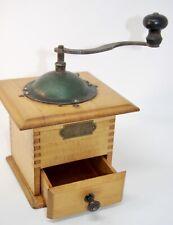 Vintage Antique Coffee Espresso Spice Grinder Mill German PeDe Pe De Wood Crank