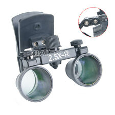Clip On Dental Clinic Medical Surgical Binocular Magnifier Loupes 25x R