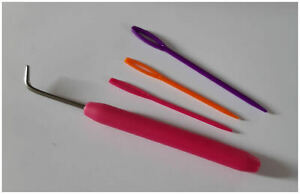 Needles and Hook Crochet Hook Set For French Knitting Loom L
