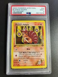 Blaine's Vulpix | PSA 9 MINT | 2000 1st Edition Gym Challenge #66 | Pokemon