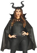 Ladies Scary Halloween Black She Devil Fancy Dress Costume Outfit Accessory Kit