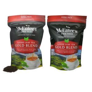 McEntee's Irish Loose Leaf Gold Blend Tea - 250g Refill Bag - ( Pack of 2 )