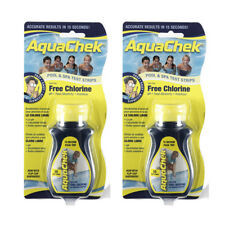 AquaChek Swimming Pool & Spa Yellow Free Chlorine Test Strips 50 Count - 2 Pack