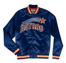 bd5cd203f49 Authentic Houston Astros Mitchell   Ness MLB Tough Seasons Satin Light  Jacket