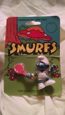 Make Offer Original 1978/80 Smurfs Sporty Smurf Action Figure Sealed on Card