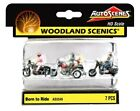HO Scale Woodland Scenics AutoScenes AS5549 Born to Ride Motorcycle (3)