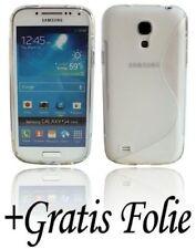 Silikon Schutz Zubehör Gummihülle + Folie Samsung Galaxy S4 Mini i9195 TR