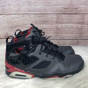 Nike Air Jordan Flight Club 91 Black/Red Basketball Gym Shoes 555475-001 SZ 11.5