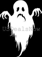 [#201] 2 Spooky Ghost Silhouette Halloween Vinyl Decal Car Window Stickers WHITE