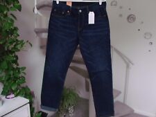 Levi's 501 Ct Women's Button Fly Cropped Jean Size measure 34X28. NWT tag 29x32