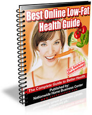 BEST ONLINE LOW-FAT HEALTH GUIDE PDF EBOOK FREE SHIPPING RESALE RIGHTS