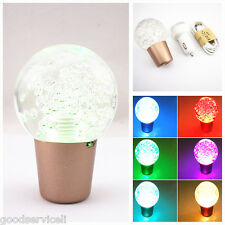 Colourful LED Crystal Bubbles Vehicle Interior Gear Shift Shifter Lever Knob JDM