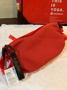 NWT LULULEMON All Hours Belt Bag Cross Body Bag Red