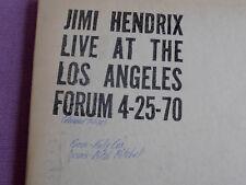 JIMI HENDRIX LIVE  AT LOS ANGELES FORUM, 4-25-1970,  RUBBER DUBBER  2 LP