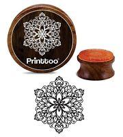 Printtoo Scrapbooking Floral Mandala Holz Briefmarken Craft Textile