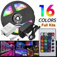 5M RGB 5050 SMD LED Strip Lights Full Kit 24 Key Remote controller 12V AU Power