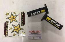 Manopole UFO Trax tripla Densità Nero Giallo Suzuki Adesivi Rockstar - Ma01827 D