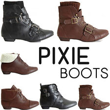 Flat (less than 0.5') Lace Up Ankle Boots for Women