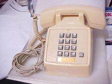 VINTAGE TELCO DESK TELEPHONE BEIGE MODEL 2503 w/cord (PHONE15-1)