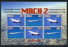 St Kitts 2007 MNH Concorde Mach 2 6v M/S Airplaines Jet Plane Aviation Stamps