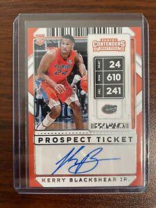 KERRY BLACKSHEAR JR 2020-21 Contenders Draft Picks Prospect Ticket Auto!