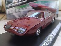 Fast and Furious Dom's 1969 Dodge Charger Daytona Diecast Car 1/43 Greenlight
