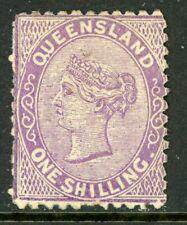 Australia 1881 Queensland 1' Violet Perf 12 Scott #77 Mint G269