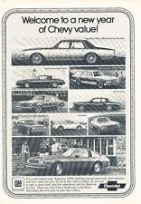 1979 Chevrolet Monza Caprice - Classic Vintage Car Advertisement Ad J25