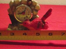 NEW~   RED  BIRD ALARM CLOCK WITH SECOND HAND ~ CLOCK     NEW !!!