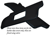 BLUE STITCH FITS PEUGEOT 205 83-98 2X SUN VISORS LEATHER COVERS ONLY
