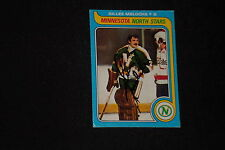 GILLES MELOCHE 1979-80 TOPPS SIGNED AUTOGRAPHED CARD #136 NORTH STARS