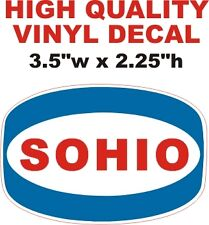 Vintage Style SOHIO Oil Gas Gasoline Pump Decal - The Best or 100% Refund!