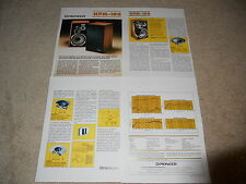 Pioneer HPM-100 Speaker Brochure, 4 pages, Very Rare! Specs, Articles, Info