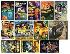 MONSTER MAGNETS  SET 1 OF 7 (UNIVERSAL) MOVIE POSTERS PHOTO-FRIDGE MAGNETS