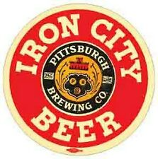 Iron City Beer    PITTSBURGH, PA    Vintage 1970's  Style  Travel Decal  Sticker