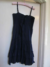 Navy Blue Cotton Knee Length Summer Dress in Size M / Size 12 - NWOT