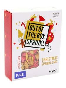PME Out Of The Box Christmas Sprinkles Cake Decorations