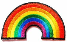 Ecusson Patch thermocollant brodé ARC EN CIEL, Rainbow